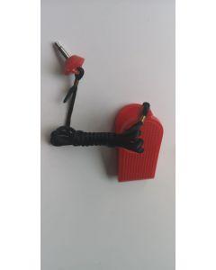 Safety key jack